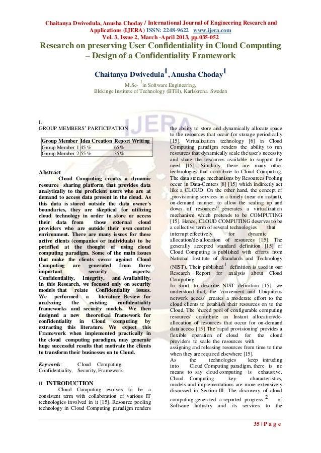 Chaitanya Dwivedula, Anusha Choday / International Journal of Engineering Research and                 Applications (IJERA...