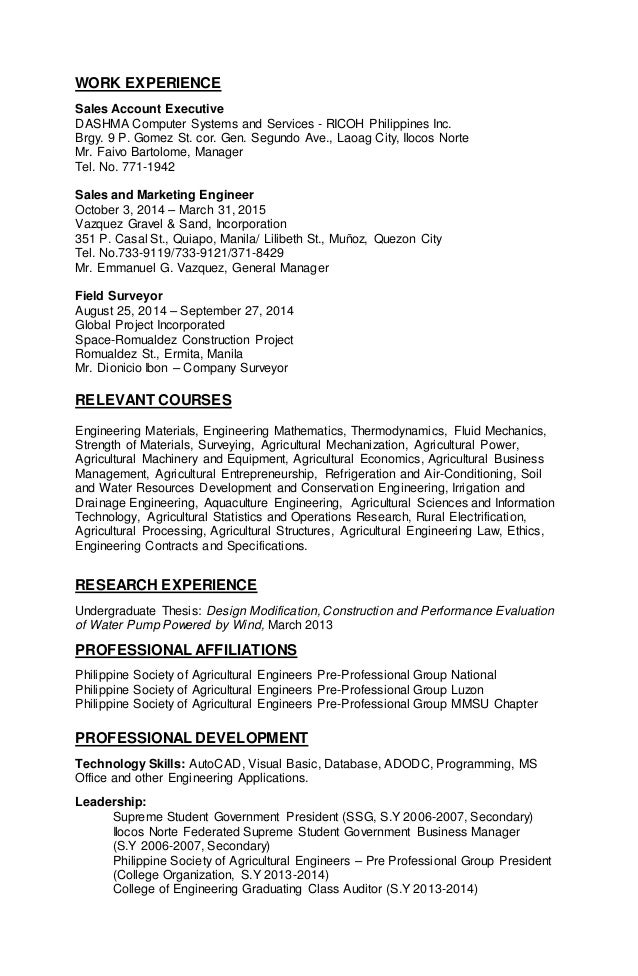 Fine Agricultural Business Management Resume Photo - Administrative ...