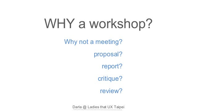 How to run a business planning workshop