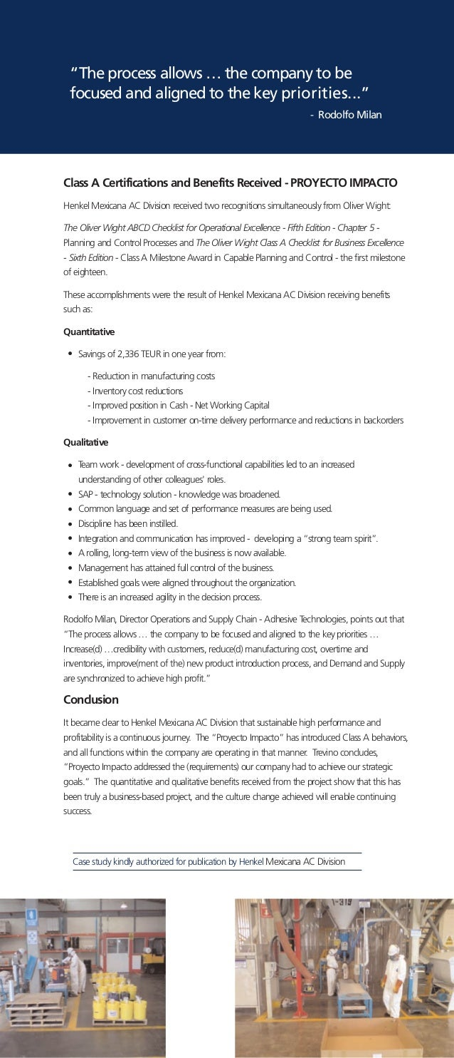 HENKEL CASE STUDY: - cleanmarklabels.com