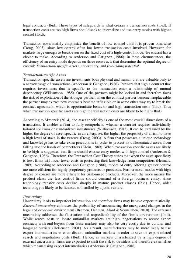 Master thesis international marketing