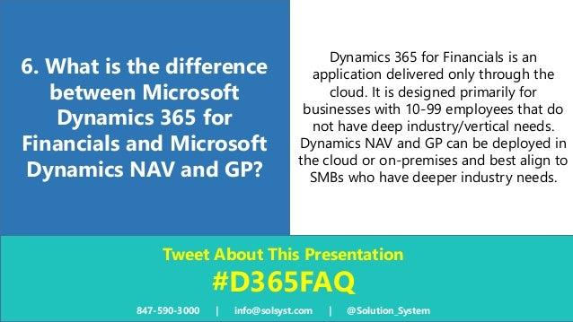microsoft dynamics 365 for financials faq