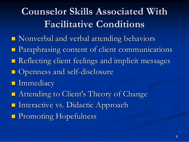 skills practice attending behaviors paraphrasing and Identify active listening skills and practice reflecting, paraphrasing, and summarizing clients' concerns encouragement, and summarizing techniques • we need to give praise and encouragement to the client even if we want to discourage negative behavior treating attend to feelings, the client will not hear us.