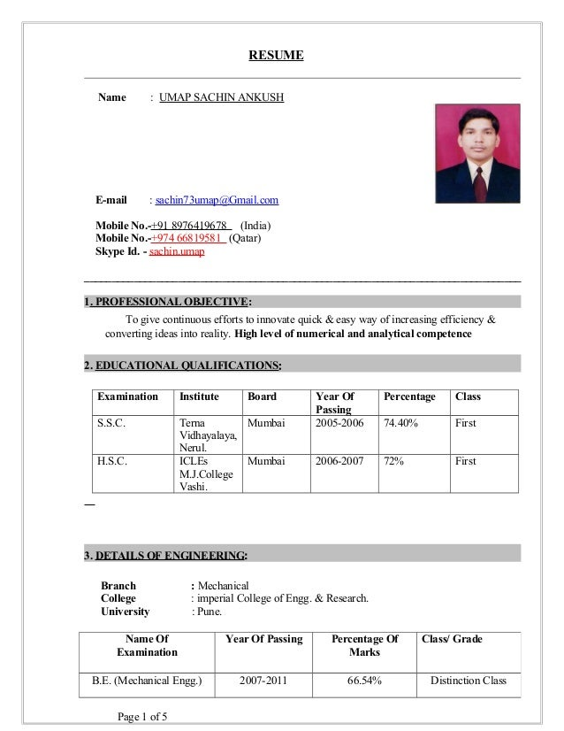 resume name umap sachin ankush e mail sachin73umapgmailcom mobile - Procurement Engineer Sample Resume