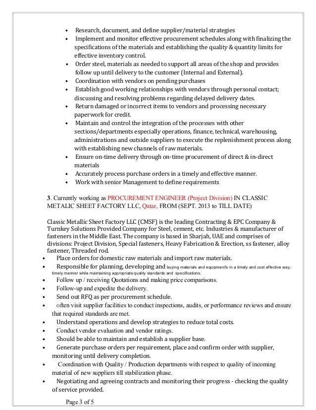 Sachin Resume -Procurement engineer (1)