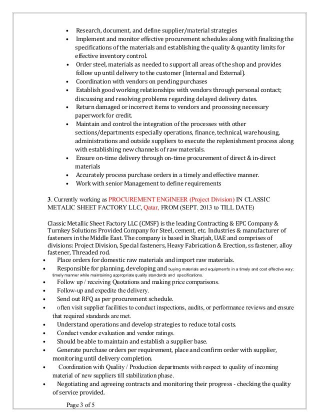 SlideShare  Procurement Resume