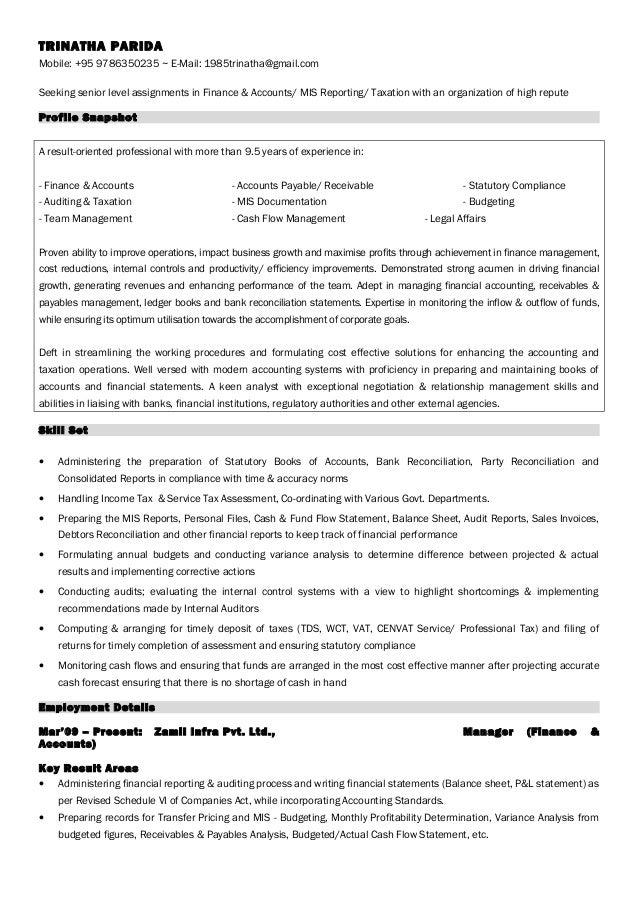 Resume Trinatha Parida