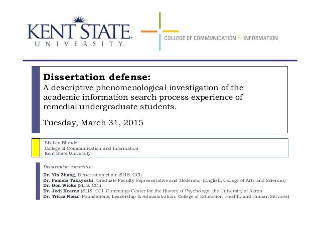 Dissertation proposal defense video images