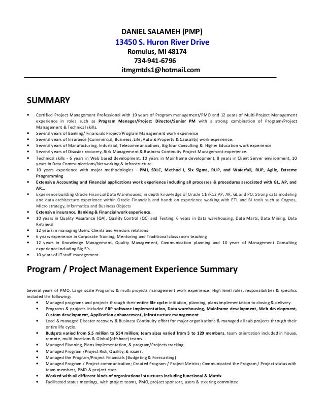 Dan Salameh resume V   b   Job Resume Samples