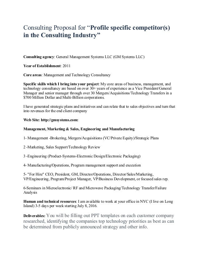 Sample Consulting Proposal Acurnamedia