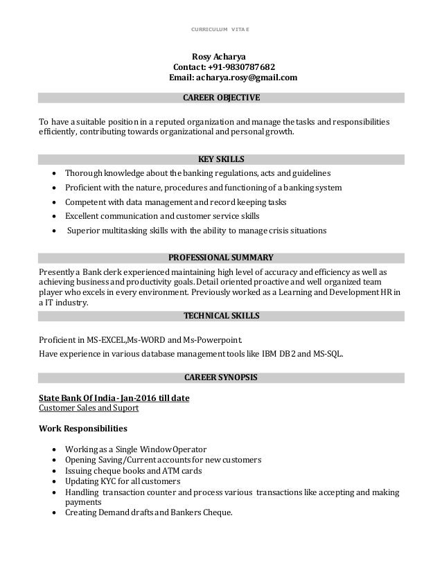 Resume- Rosy Acharya(NEW BANKING)