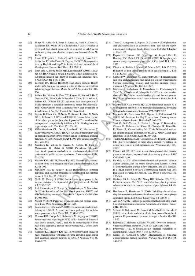UncorrectedAuthorProof 12 F. Nafar et al. / HspB1 Release from Astrocytes [22] Sharp PS, Akbar MT, Bouri S, Senda A, Joshi...