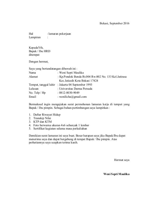 Cv Dan Daftar Riwayat Hidup 3