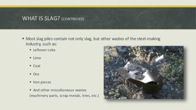 Hazards Of Coal Slag : Steel slag leachate