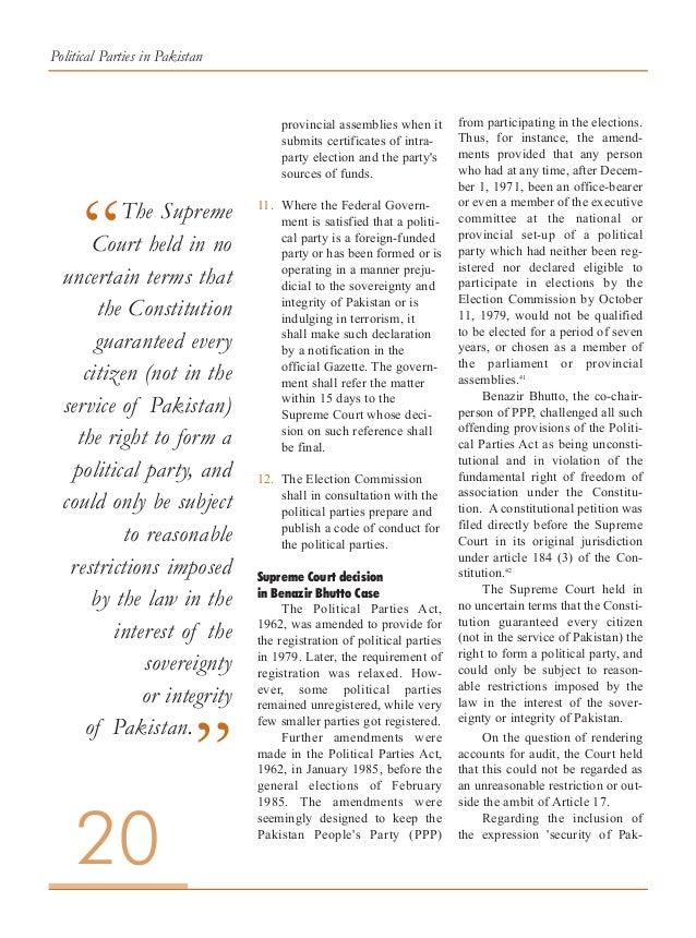 Political Parties in Pakistan