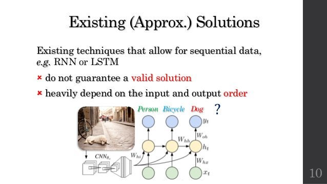 Existing (Approx.) Solutions Existing techniques that allow for sequential data, e.g. RNN or LSTM û do not guarantee a val...