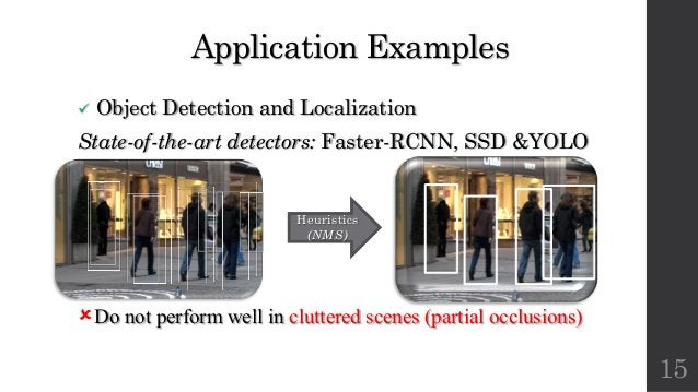 Application Examples ü Object Detection and Localization State-of-the-art detectors: Faster-RCNN, SSD &YOLO ûDo not perfor...