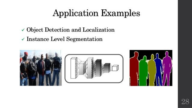 Application Examples ü Object Detection and Localization ü Instance Level Segmentation 28