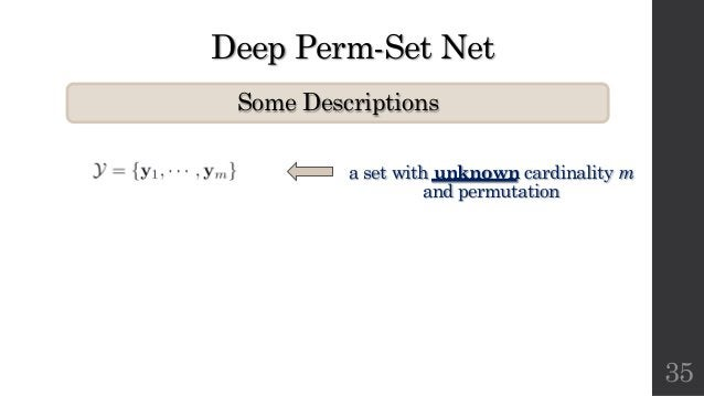 Deep Perm-Set Net Some Descriptions 35 a set with unknown cardinality m and permutation