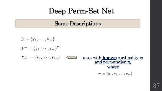Deep Perm-Set Net Some Descriptions 37 a set with known cardinality m and permutation !, where