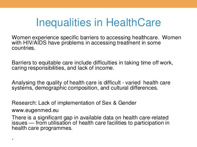 inequality in health care essay