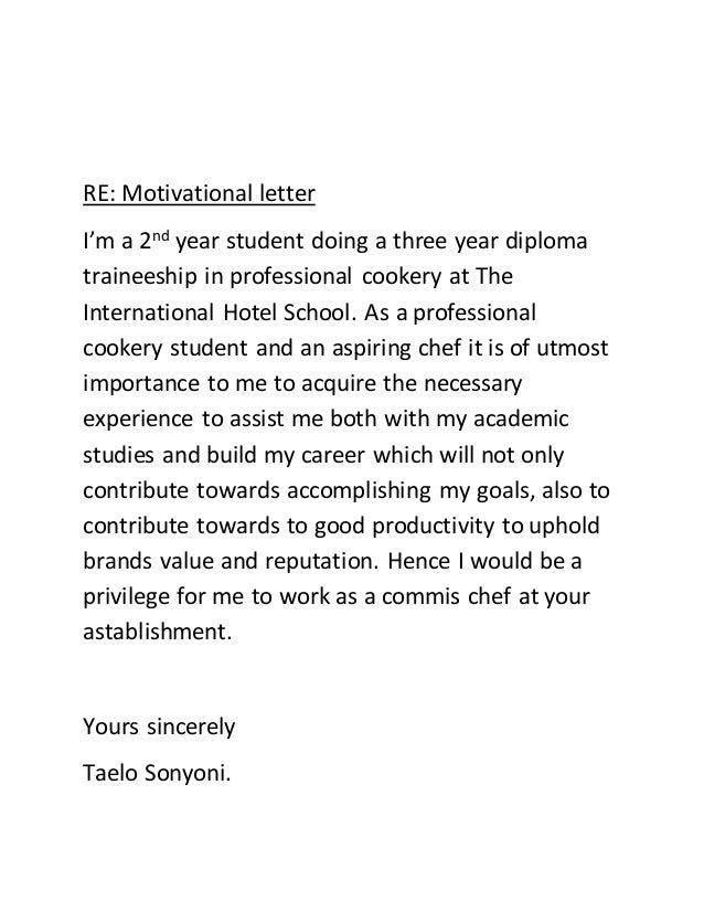 How To Write Good Letter Of Motivation