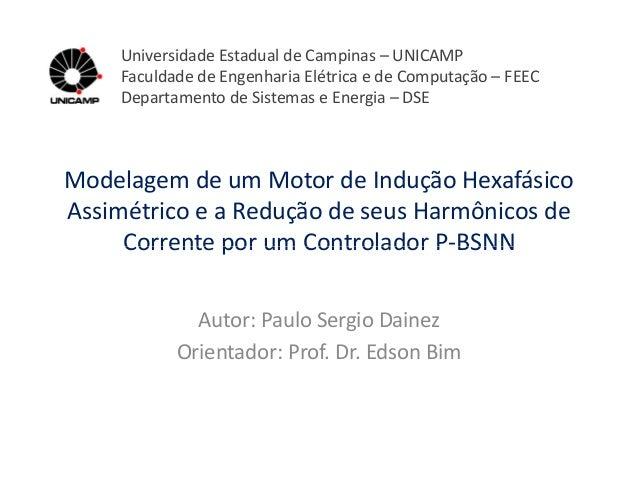 Modelagem de um Motor de Indução Hexafásico Assimétrico e a Redução de seus Harmônicos de Corrente por um Controlador P-BS...