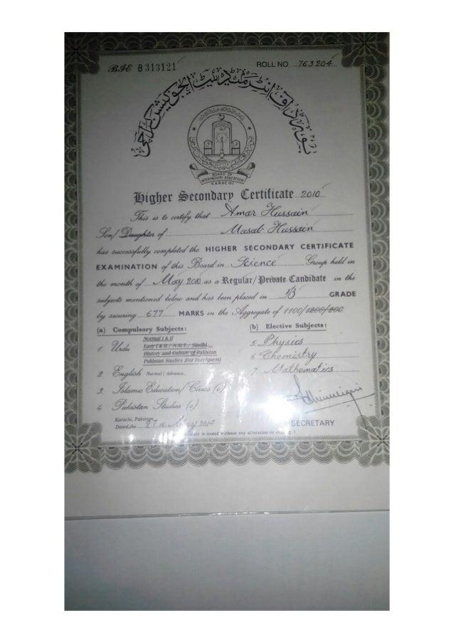 Intermediate Certificate PDF