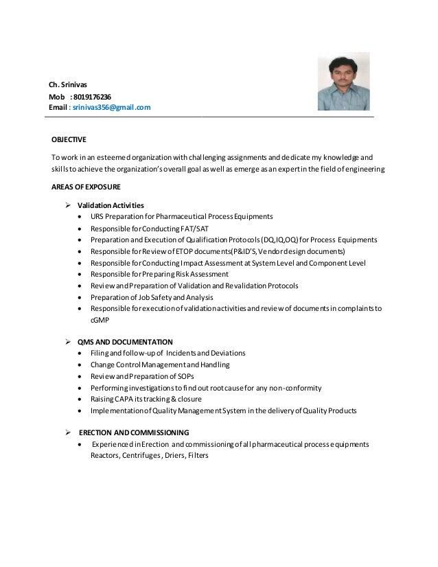 maintenance manager cv