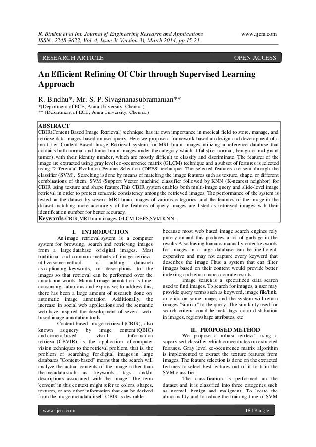 R. Bindhu et al Int. Journal of Engineering Research and Applications www.ijera.com ISSN : 2248-9622, Vol. 4, Issue 3( Ver...