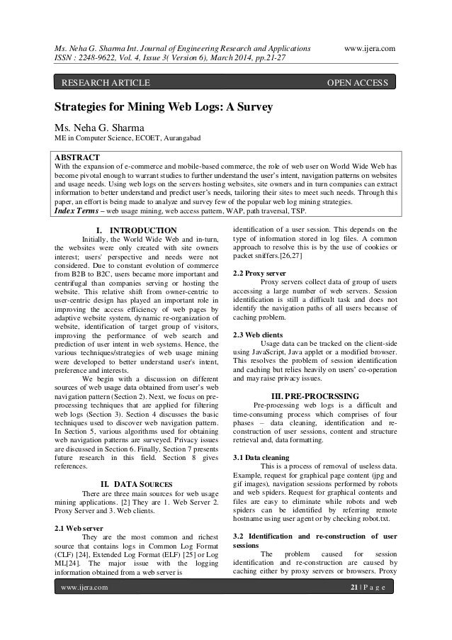Ms. Neha G. Sharma Int. Journal of Engineering Research and Applications www.ijera.com ISSN : 2248-9622, Vol. 4, Issue 3( ...
