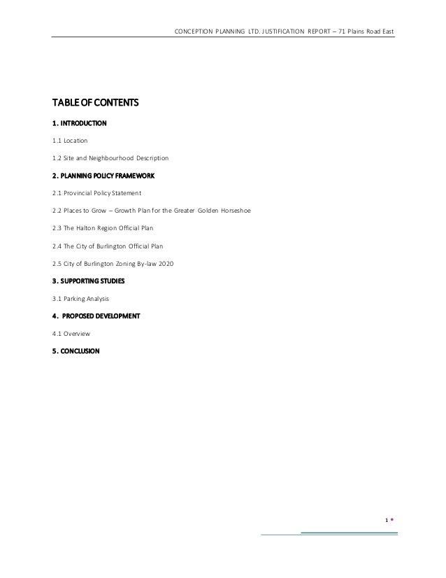 Burlington Site Plan Report