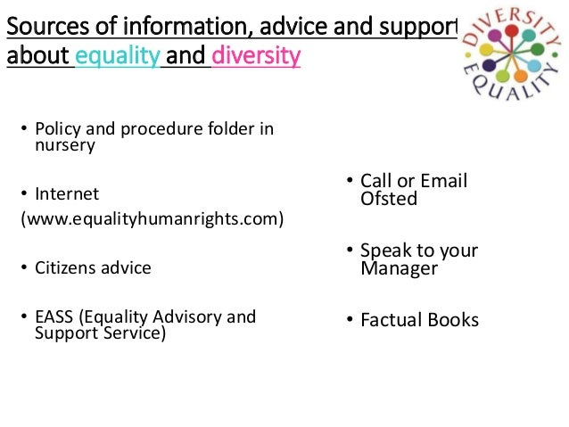 Describe how equality and diversity can be monitored within the workplace