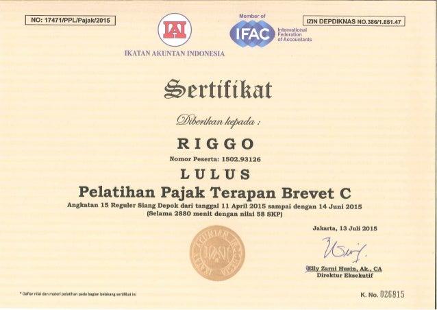 Certificate Brevet C
