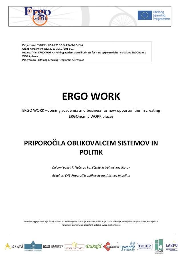ERGO  WORK   ERGO  WORK  –  Joining  academ...