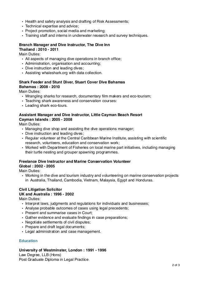 Contemporary Cayman Islands Accounting Resume Image Collection ...