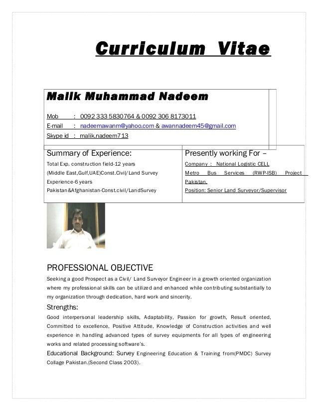 land surveyor resume sample