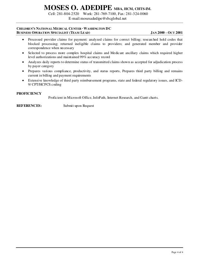 resume resolute hb