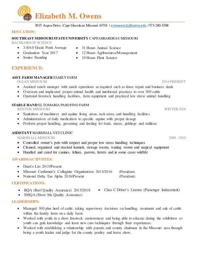 Best Cattle Ranch Manager Resume Contemporary - Best Resume Examples ...