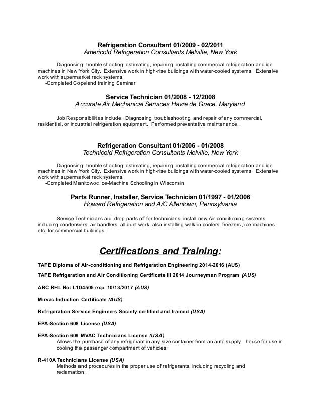 pdf presentation of resume hvac technician resume sle