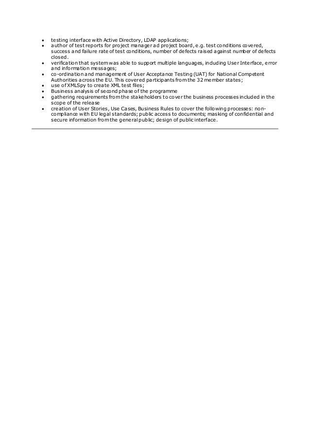 Curriculum Vitae EMA