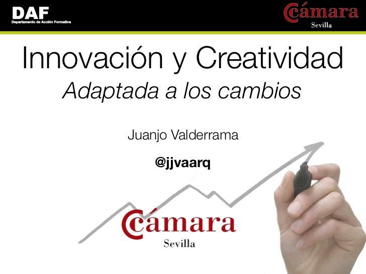 Innovación y Creatividad   Adaptada a los cambios        Juanjo Valderrama            @jjvaarq