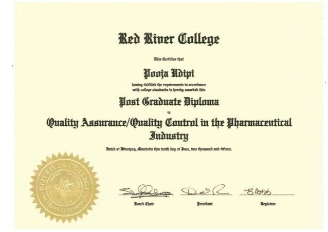 Certificate - Post Graduate Diploma