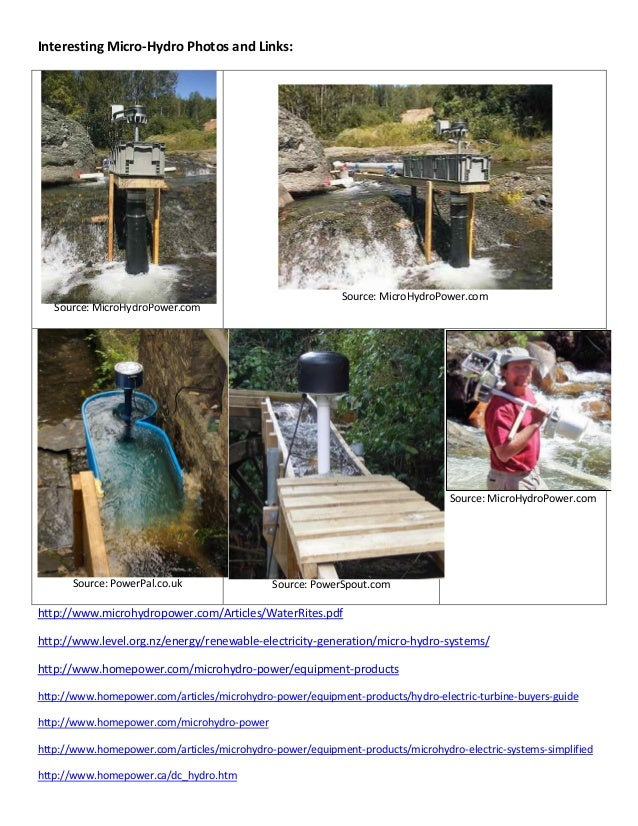 Microhydro Design Project Report