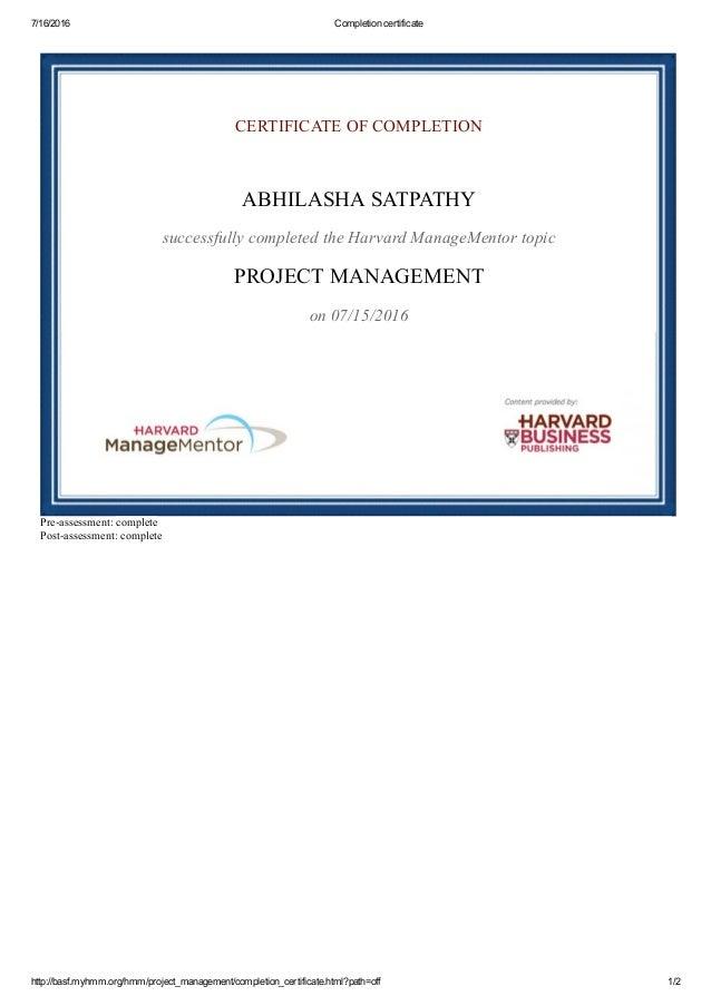 Harvard Business Publishing Project Management