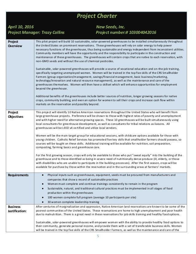 mgd 172 native greenhouse enterprises final project plan