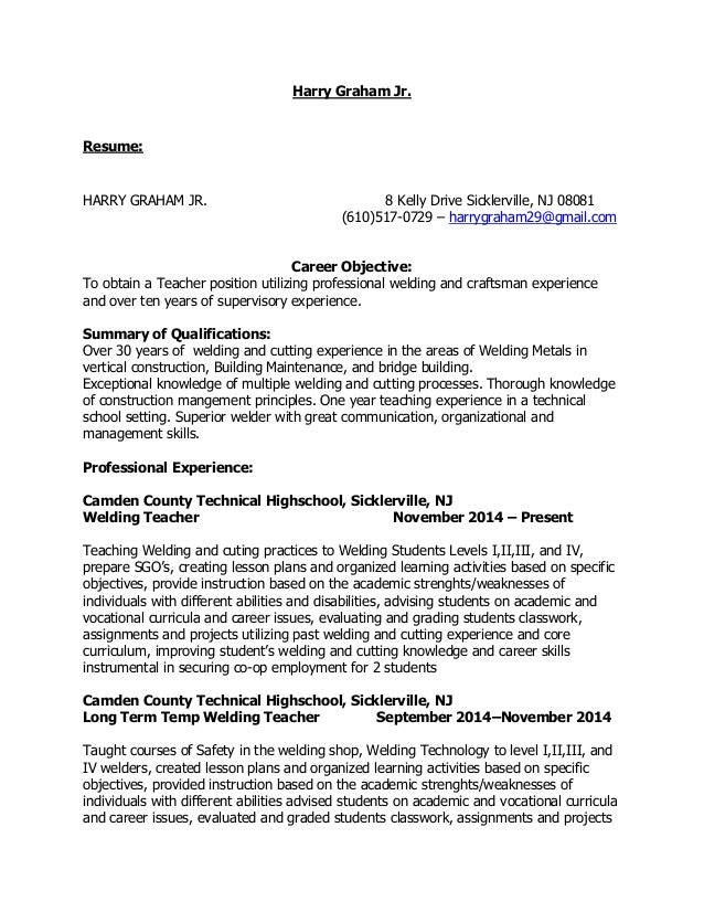 technology teacher resume