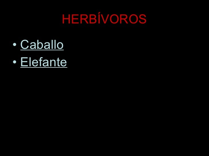 HERBÍVOROS <ul><li>Caballo </li></ul><ul><li>Elefante </li></ul>