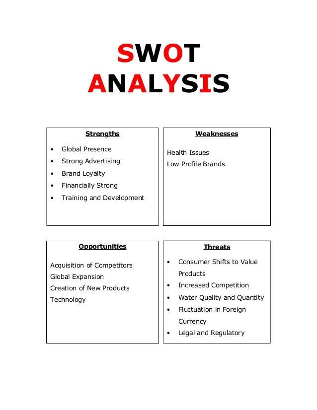 The Swot Analysis Pepsi Commerce Essay