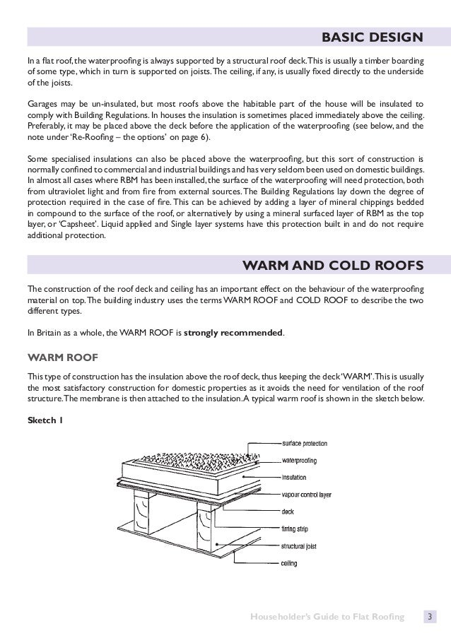 Householders Guide To Flat Roofing 2015